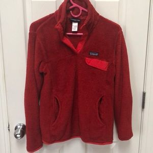 Patagonia Fleece. Cranberry Red. medium